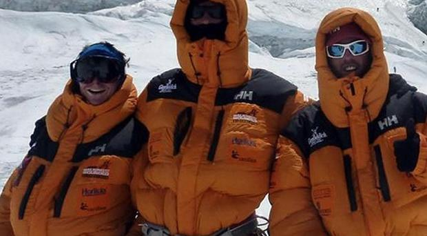 Walking With The Wounded team members were stranded for three days as high winds battered Everest