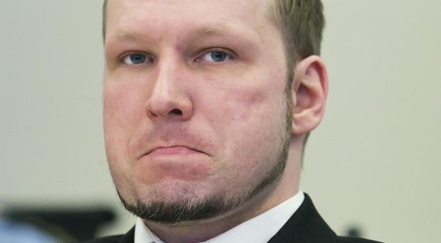Anders Breivik sits in an Oslo court as he is tried for the Utoya youth camp massacre (AP)
