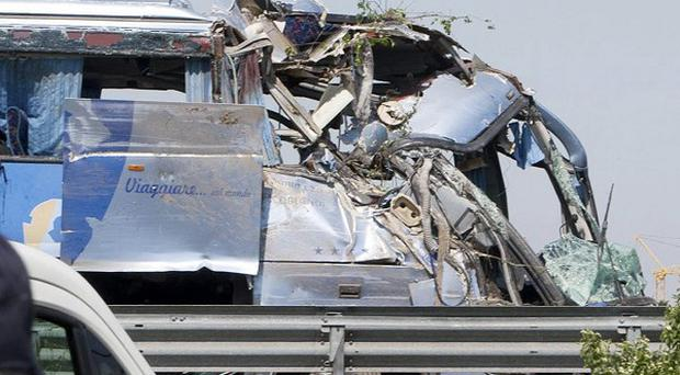 At least five people were killed in a bus crash in Italy, according to reports (AP)
