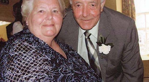 Bertie Acheson, with his wife Sheila, who collapsed and died of a heart attack after struggling with a burglar
