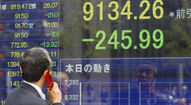 Asian stock markets were pummeled today by weekend election results in Greece and France