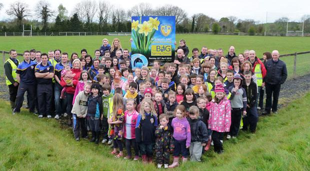 Over 100 families turned out in force to participate in St Ergnats Big Spring Clean in Moneyglass on Sunday 22nd April 2012