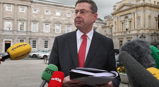 Former deputy leader of Fianna Fail Eamon O Cuiv holds a press conference on his political future at Leinster House, Dublin