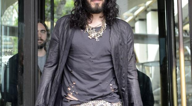 Russell Brand let rip at a heckler who shouted Katy Perry's name at one of his stand-up shows in the US
