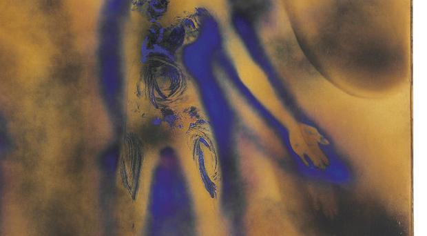 FC 1 by French artist Yves Klein has sold for 22.6 million pounds (AP/Christie's)