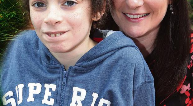 Sharon Fennell with her son Ryan, aged 11