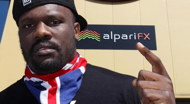 Dereck Chisora at West Ham United's Upton Park, the venue for his clash with David Haye