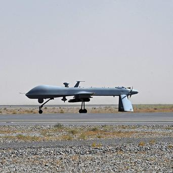 One of the Americans' fleet of Predator unmanned drones which have targeted militants in Yemen (AP)