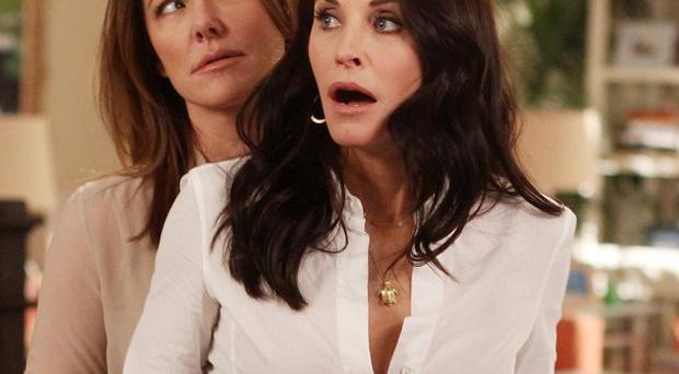 Christa Miller and Courteney Cox star in Cougar Town, which has been saved by a move to cable in the US