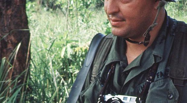 Photographer Horst Faas on assignment in South Vietnam (AP)