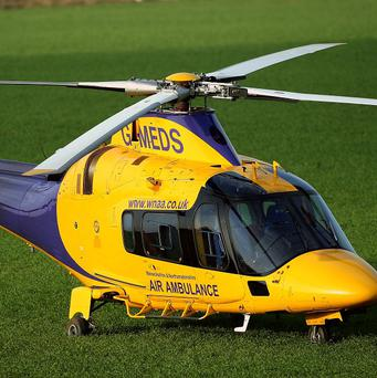 The air ambulance was deployed after a boat capsized in Warwickshire