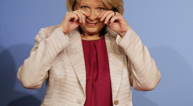Social Democratic Party candidate for the elections in North Rhine-Westphalia, Hannelore Kraft, reacts after the first results were published (AP)