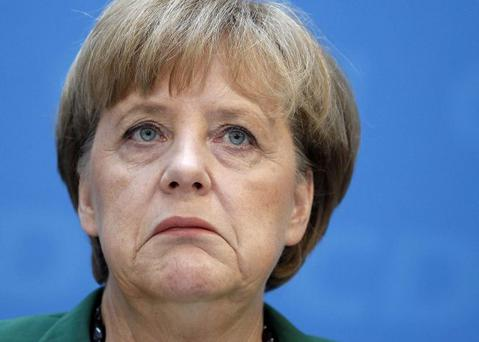Rise and fall: Angela Merkel is crucial to Europe's future, while Sinn Fein and Gerry Adams have pushed ahead of Fianna Fail