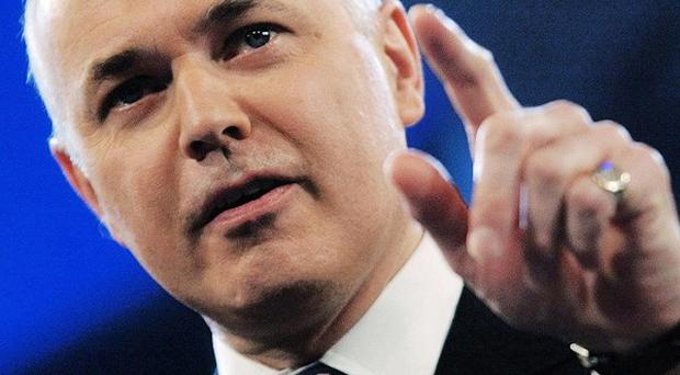 Iain Duncan Smith said there had been a 30 per cent rise in the the number of disability allowance claimants in recent years