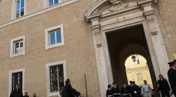 The Rome church where a mobster's body is being exhumed (AP)