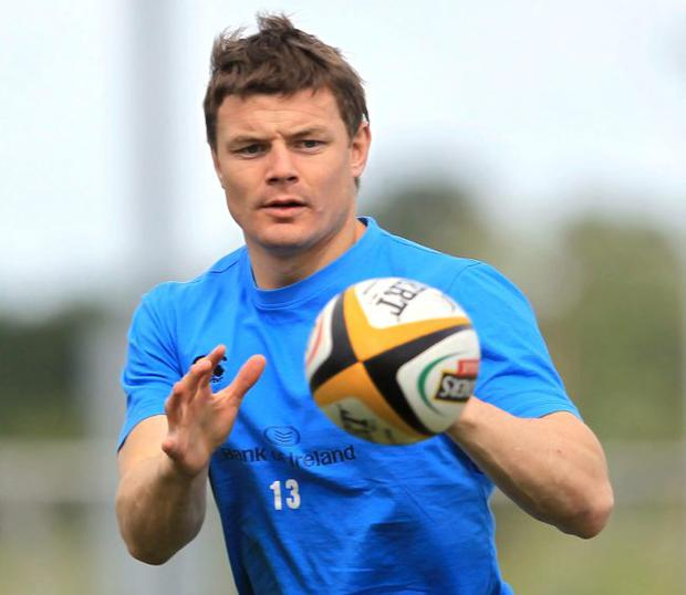 Looking ahead: Leinster star and Manchester United fan Brian O'Driscoll wants a happier ending on Saturday