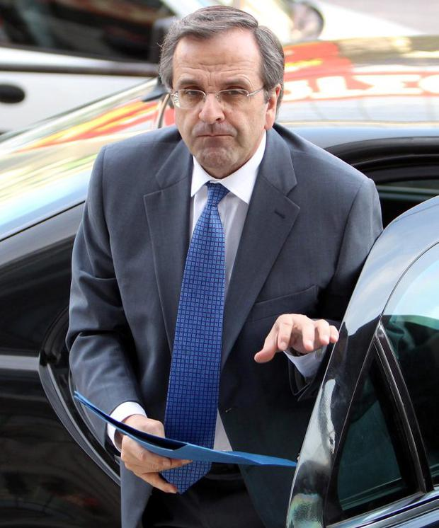Greece's conservative leader of New Democracy Antonis Samaras needs to form a coalition government