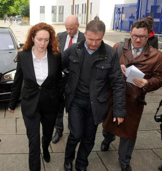 Former News of the World Editor Rebekah Brooks arrives at Lewisham police station, London where she charged with perverting the course of justice during the phone-hacking scandal.