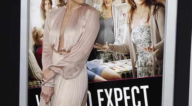 Jennifer Lopez joined her castmates at the What To Expect premiere in LA