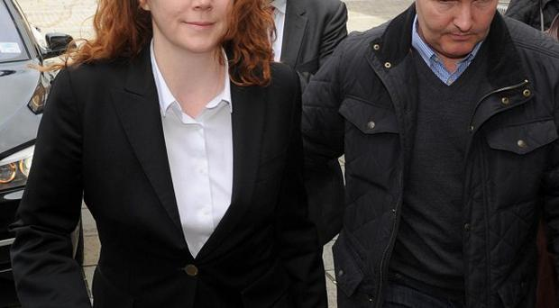 Former News of the World Editor Rebekah Brooks arrives at Lewisham police station where she charged with perverting the course of justice