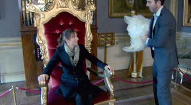 Jenna Whittingham decides to use a throne for her sparkling wine advert