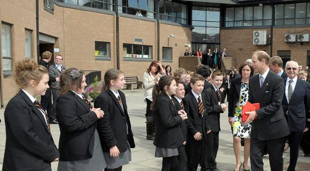 The Earl of Wessex at Lagan College