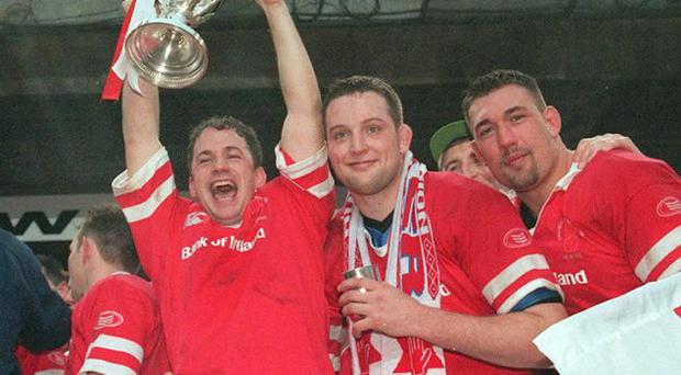 Glory days: Ulster players will draw inspiration from David Humphreys lifting the European Cup in 1999