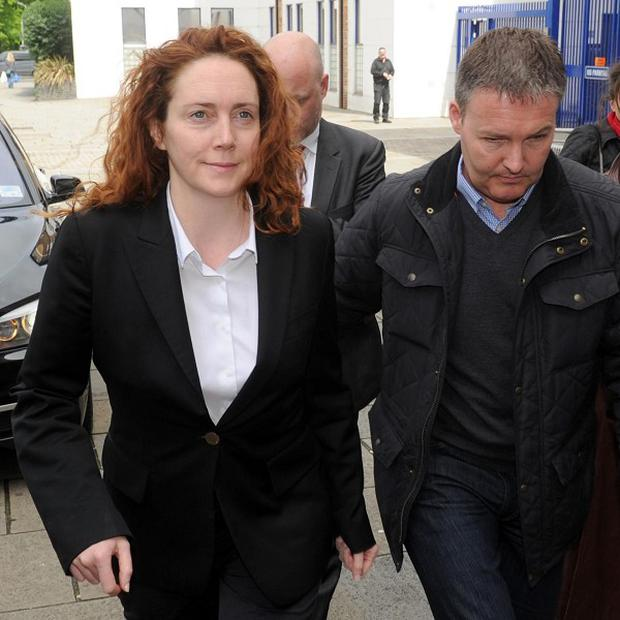 Former News of the World Editor Rebekah Brooks arrives at Lewisham police station where she was charged with perverting the course of justice