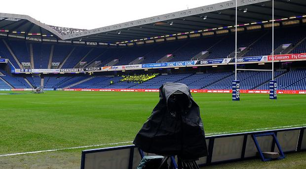 TV camera at Murrayfield