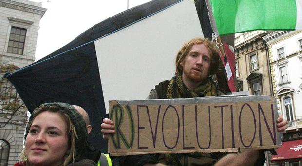 Police have removed activists from Ireland's last Occupy camp