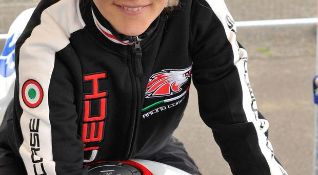 Simona Zaccardi from Italy who is racing a Supersport Honda at the North West 200