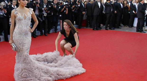 Actress Eva Longoria arrives for the opening ceremony and screening of Moonrise Kingdom at the 65th international film festival, in Cannes, southern France