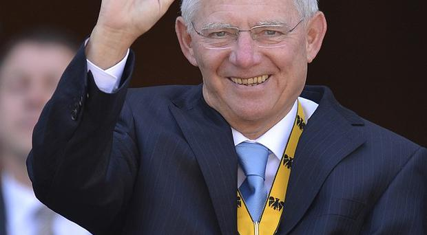 German Finance Minister Wolfgang Schaeuble has called for moves towards political union in Europe(AP)