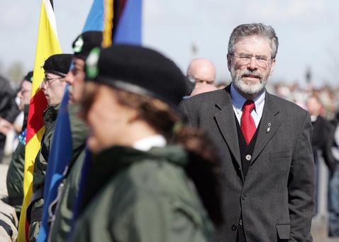 On the up - Gerry Adams sees his party's popularity increase