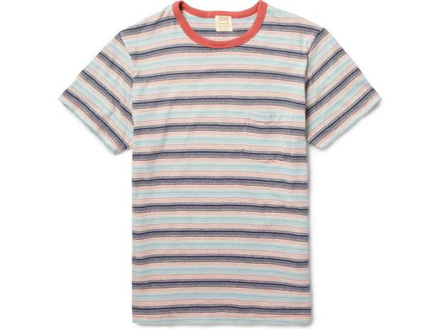 <b>1. Multicolour stripe: £75, Levi's Vintage Clothing, mrporter.com -</b> Will look great with a pair of the brand's famous blue jeans. The coral neckline is nice and will bring colour to the face.