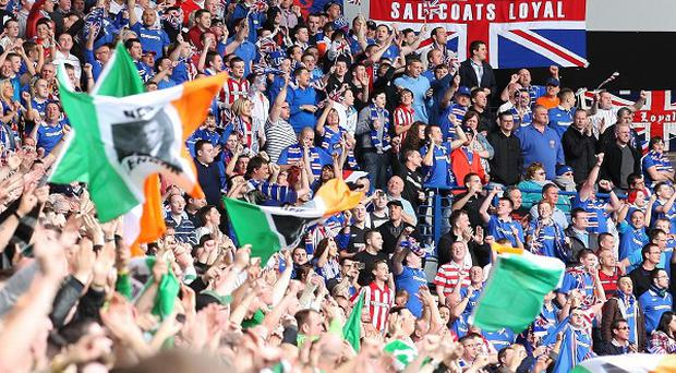 A Strathclyde policeman has been arrested over an alleged sectarian disturbance at an Old Firm match