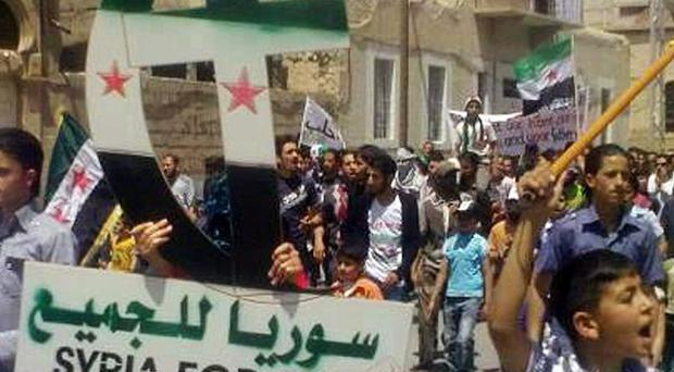 Syrians stage another demonstration against president Bashar Assad
