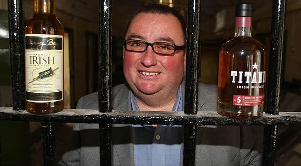 Peter Lavery at the launch of his five million pound investment to bring a distillery to Crumlin Road Gaol (Gerard Smyth/PA)