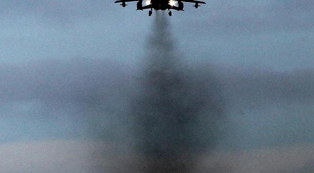 A Tornado takes off from RAF Lossiemouth, which a report suggests could be a suitable location for a spaceport