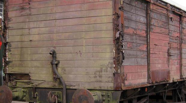 An historic Brown Van train carriage from 1948 before it was restored by prisoners at Hydebank Wood Young Offenders Centre (PA/Opportunity Youth)