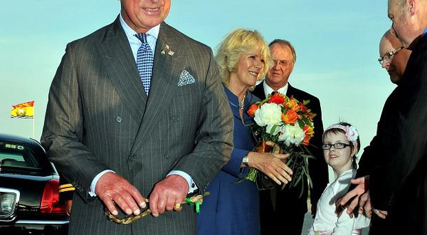 The Prince of Wales and Duchess of Cornwall begin their tour of Canada