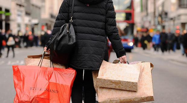 The number of shoppers in town centres dropped by more than 12 per cent this April compared to a year before