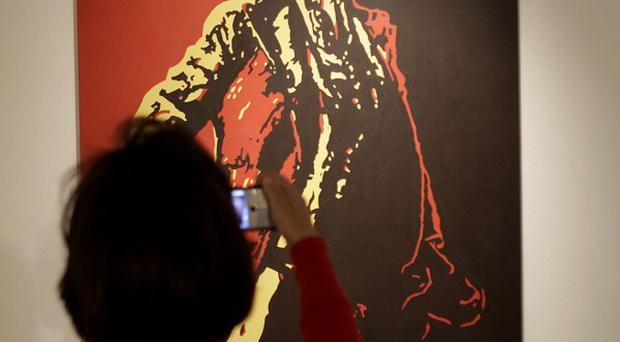 A painting entitled The Spear depicting President Jacob Zuma, by South African artist Brett Murray (AP/Denis Farrell)