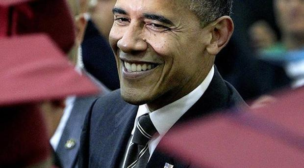 President Barack Obama is locked in a tight battle for the White House (AP/The Kansas City Star, Rich Sugg)