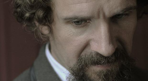 Ralph Fiennes plays Charles Dickens in The Invisible Woman