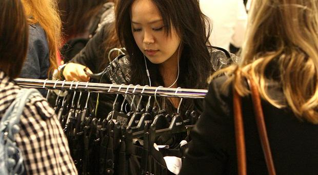 Clothing retailers saw sales volumes drop by more than five per cent in April compared to the previous month