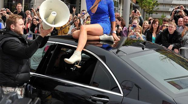 Geri Halliwell arrived at the audition on the top of a car