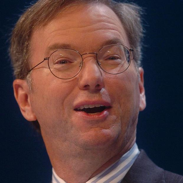 Google chief Eric Schmidt