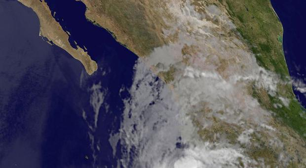 Hurricane Bud has strengthened off the south-western coast of Mexico (AP/Nasa)