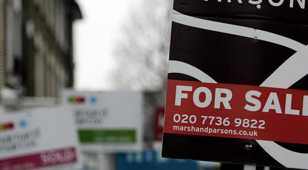 For sale signs in Fulham, which has been named as the most popular place in the country for young professionals